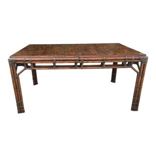 Henredon Circa East Burlwood Bamboo Table