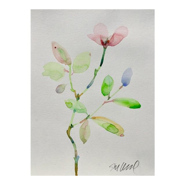 Botanical 43, Original Watercolor, 9x12 For Sale