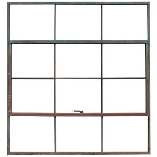 Antique Factory Casement Metal Window For Sale