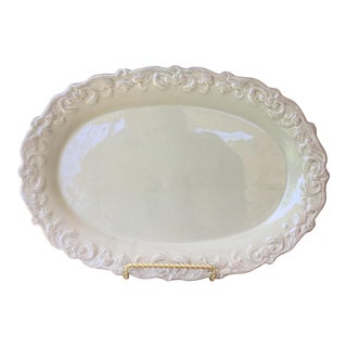 Light Green Celadon Ceramic Platter For Sale