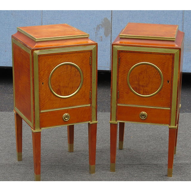 Pair of Russian Baltic Style Nightstands For Sale - Image 4 of 4