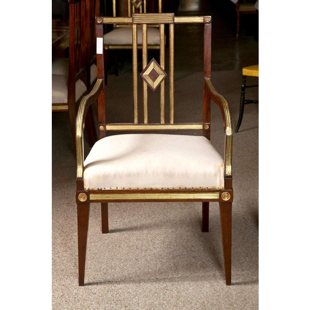 Russian Neoclassical Dining Chairs - Set of 11 For Sale - Image 4 of 9