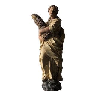 Monticello Studios Polychrome Plaster Figure For Sale