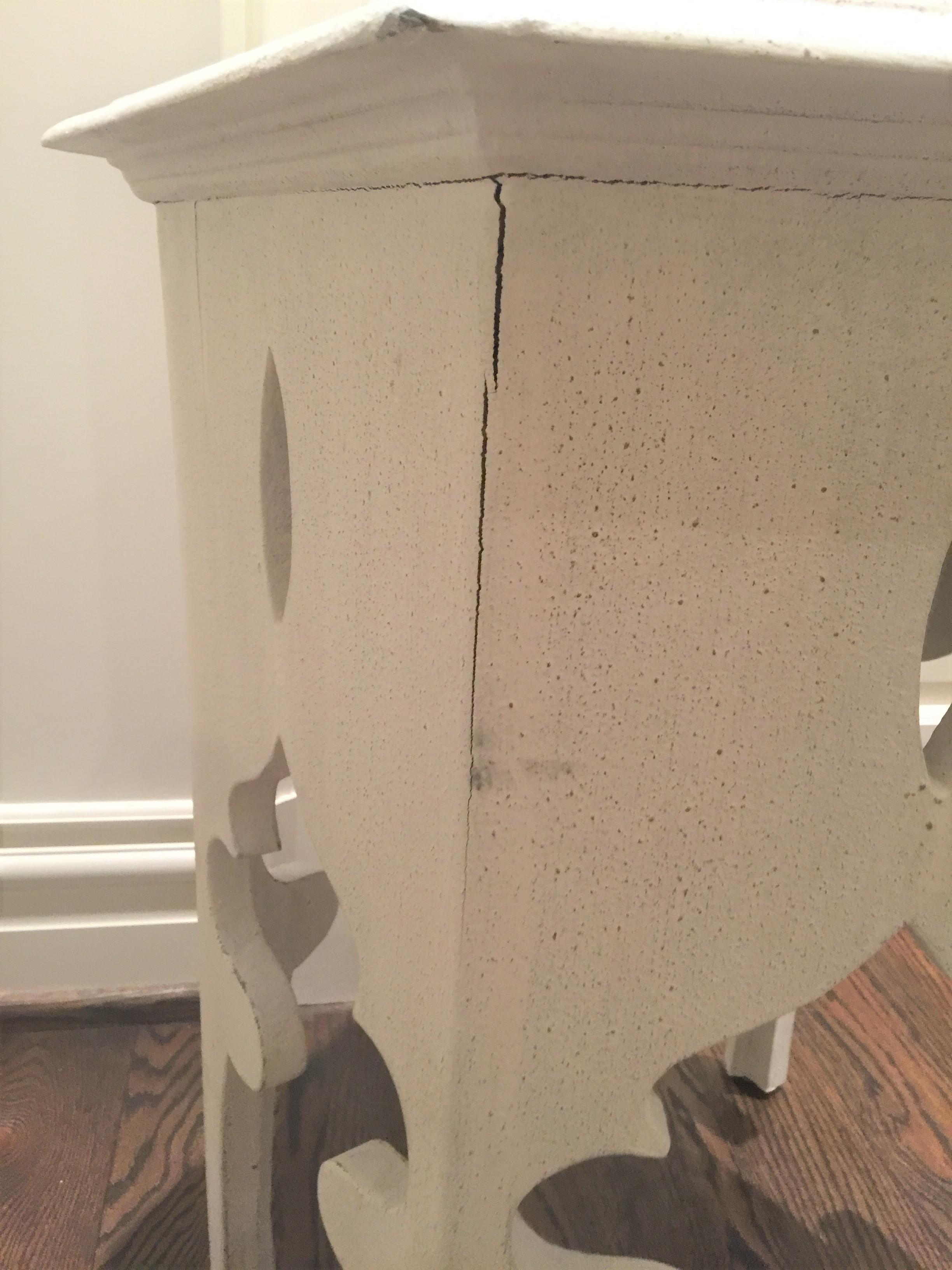 Moroccan Style White Wooden End Tables   A Pair   Image 4 Of 10