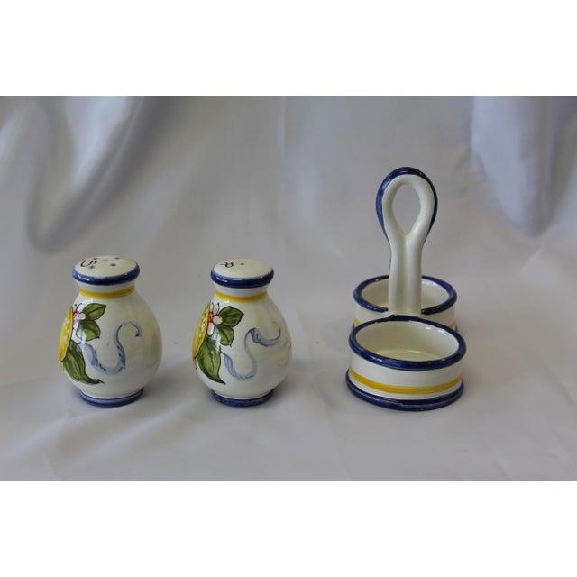 Deruta Vintage Italian Deruta Lemon Ceramic Salt and Pepper Shakers For Sale - Image 4 of 8