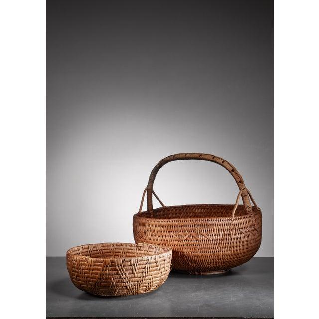 Folk Art Pair of Swedish folk art baskets, 19th Century For Sale - Image 3 of 3