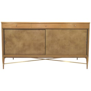 Paul McCobb for Calvin Furniture Credenza With Brass Stretchers, Circa 1950s For Sale