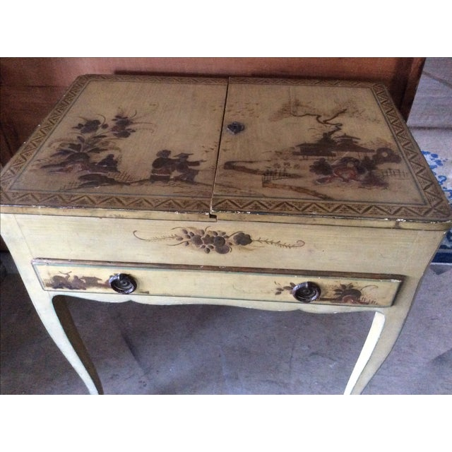 Shabby Chic Vintage Chinoiserie Vanity - Image 8 of 9