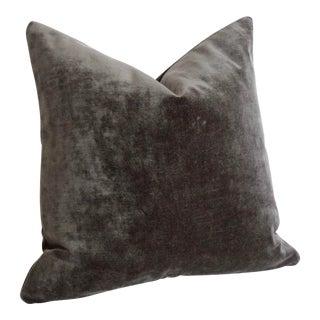 Dark Grey Velvet Pillow Cover 22x22 For Sale