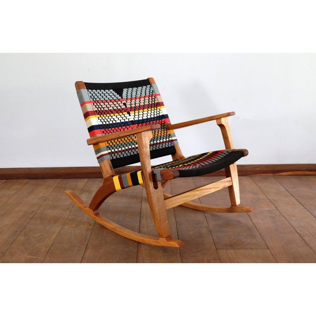 Black Mid Century Modern Rocking Chair For Sale - Image 8 of 8