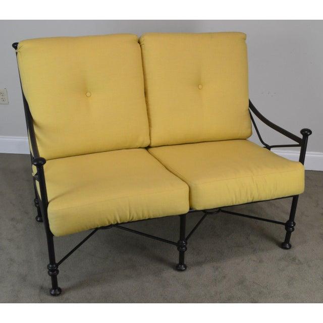High Quality Tubular Aluminium Frame Love Seat with Custom Cushions