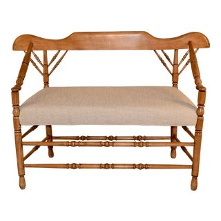 19th C. Swiss Cottage Bench For Sale