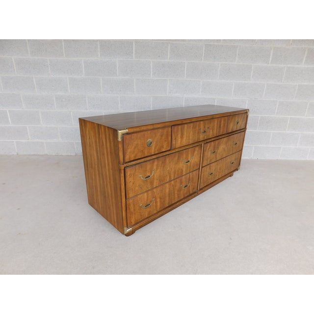 Drexel Accolade Campaign Style 7 Drawer Dresser 905-120 For Sale - Image 13 of 13