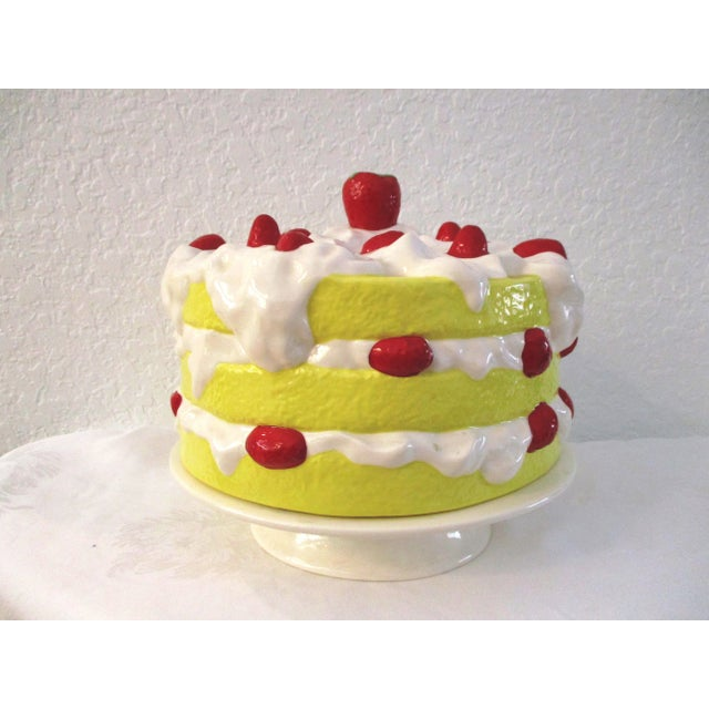 Yellow Vintage Strawberry Shortcake Cake Plate For Sale - Image 8 of 8