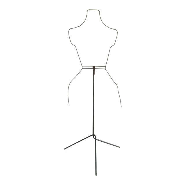 Modernist Abstract Industrial Wire Mannequin Form on Stand For Sale