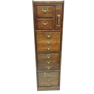 Macey Antique Standing File Cabinet