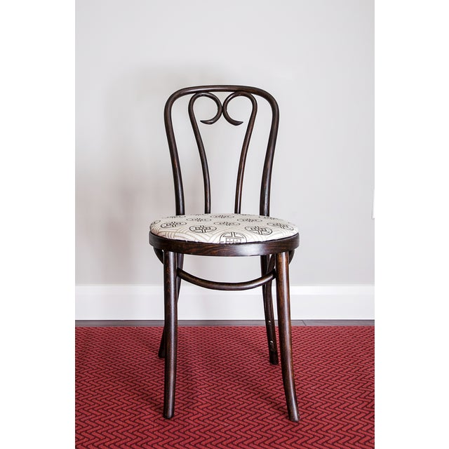 Rococo Early 20th Century Candy Cane Bentwood Cafe Chair For Sale - Image 3 of 5