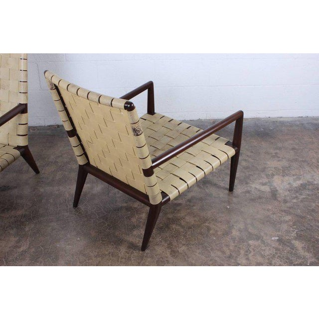 Animal Skin Pair of Lounge Chairs by T.H. Robsjohn-Gibbings For Sale - Image 7 of 11