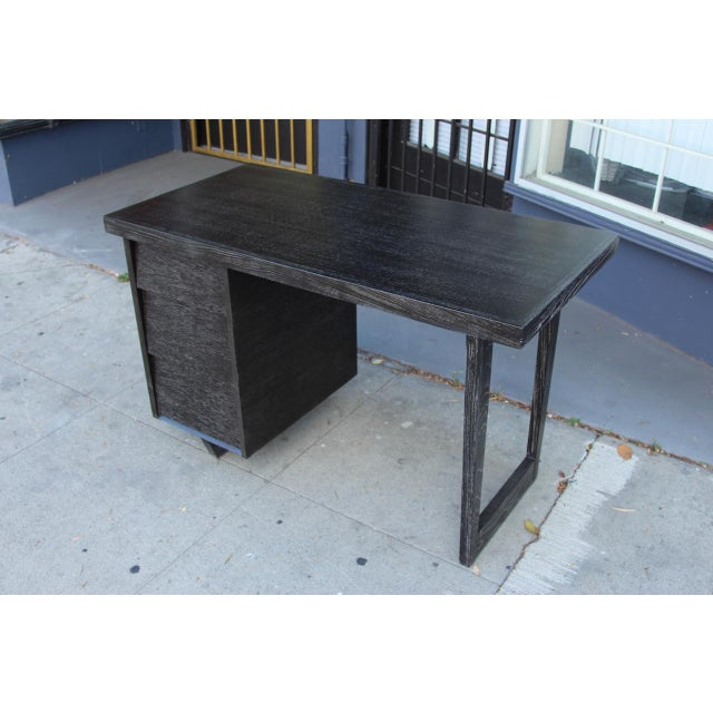 Morris of California Architectural Oak Desk For Sale - Image 11 of 11