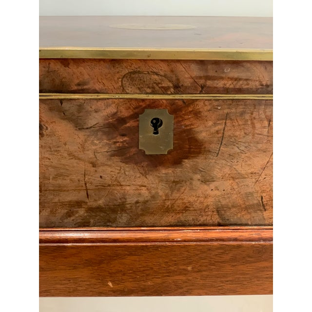 Late 19th Century Antique Wooden Box on Custom-Made Stand For Sale - Image 5 of 13