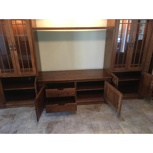 Amish Lighted 5-Piece Wall Unit - Image 6 of 11