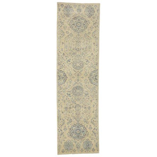 Transitional Hallway Runner With French Country Style - 3′2″ × 11′ For Sale