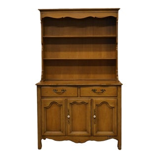 "Drexel French Country 42"" Buffet W/ Hutch For Sale"
