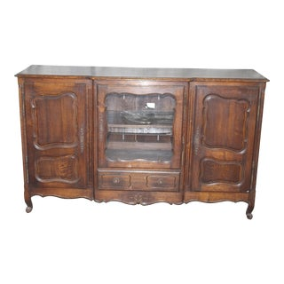 19th Century French Country Oak Dessert Buffet For Sale