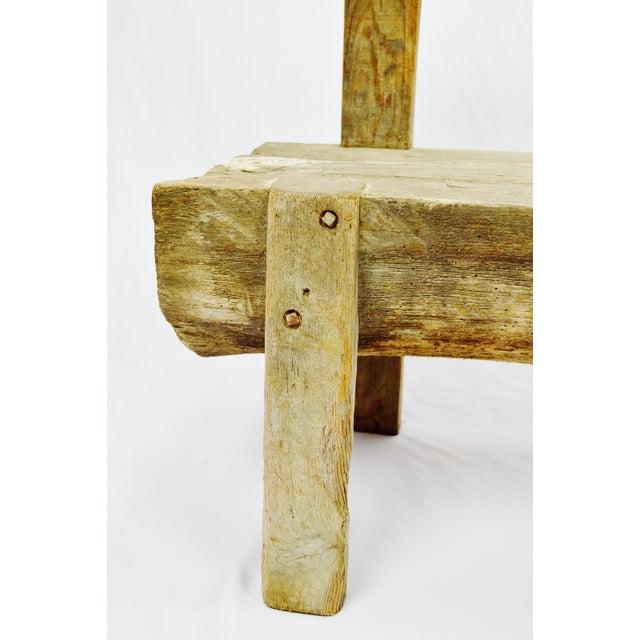 Antique Primitive Log Bench - Image 9 of 10