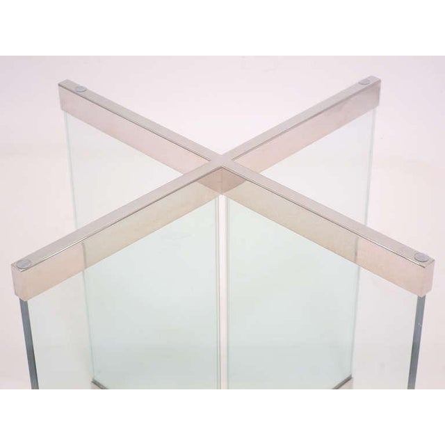 Glass & Chrome Dining Table by Leon Rosen for Pace Collection - Image 10 of 10