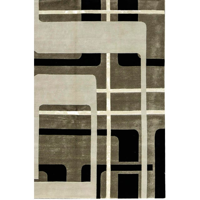 "Contemporary Hand Woven Rug - 6' x 9'3"" - Image 3 of 3"