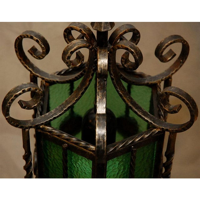 Wrought Iron Lanterns - A Pair For Sale - Image 9 of 10