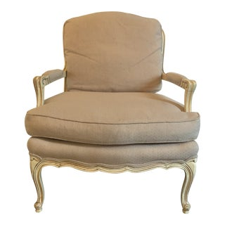 Late 20th Century Baker Furniture Bergere Style Armchair For Sale