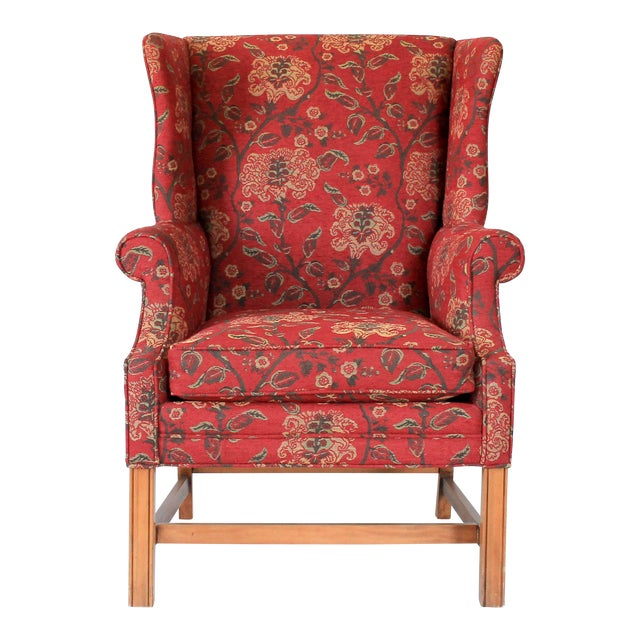 Upholstered Wingback Chair For Sale