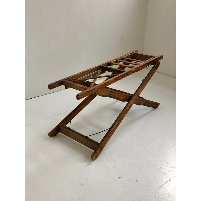 1950s Vintage 5-Step Wooden Ladder For Sale In New York - Image 6 of 10