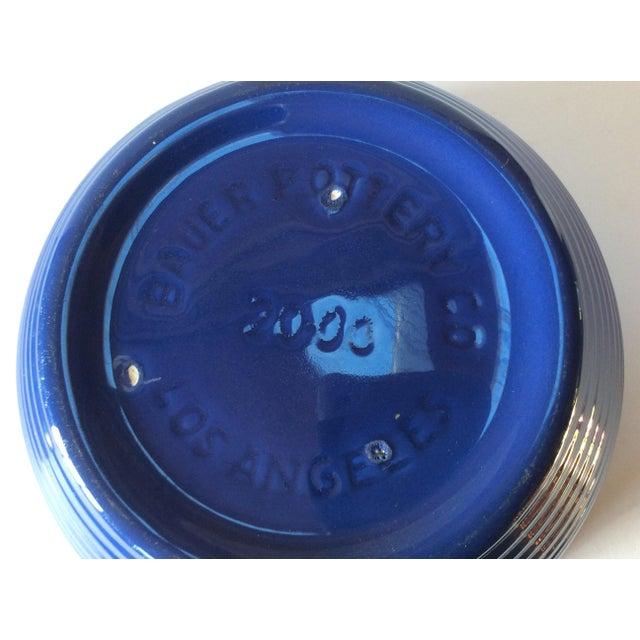 Vintage Bauer Blue Pottery Bowl For Sale - Image 4 of 6