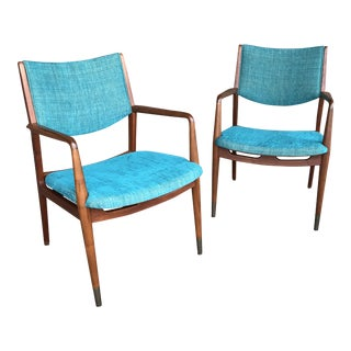 Midcentury Modern Stow Davis Armchairs - a Pair For Sale