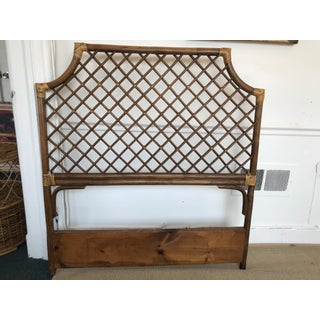 Chinese Chippendale Rattan Twin Headboard Mid-Century Preview