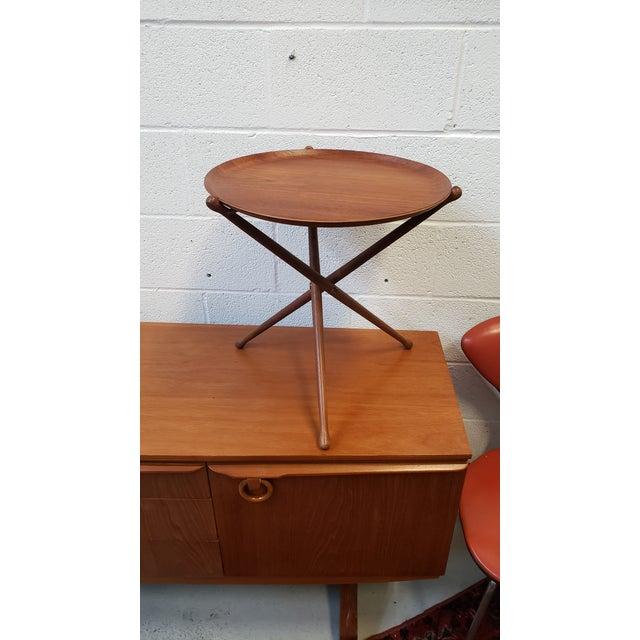 Mid-Century Modern 1950s Swedish Ary Fanerprodukter Nybro Teak Tray Table For Sale - Image 3 of 8