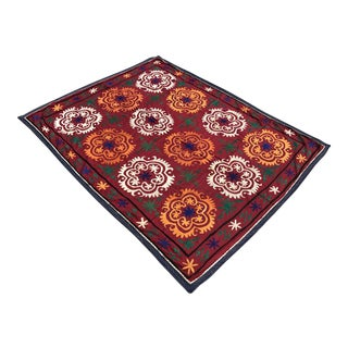 Flower Design Suzani Tapestry For Sale