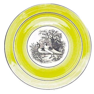 Vintage German Mottahedah Pair of Birds Plate For Sale