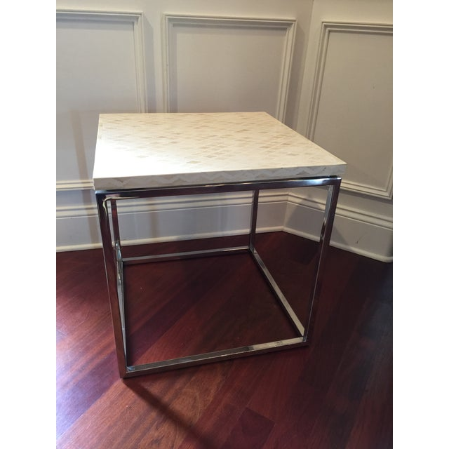 Indian Style Bone Inlay Side Accent Table For Sale - Image 5 of 7