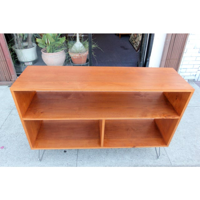 """Beautiful solid alder bookcase / credenza with 1/2"""" thick hairpin legs. The credenza is ideal for all your needs, the..."""