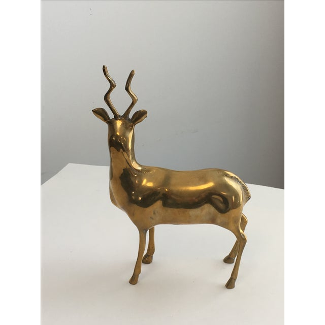 Brass Stag Statue - Image 5 of 7