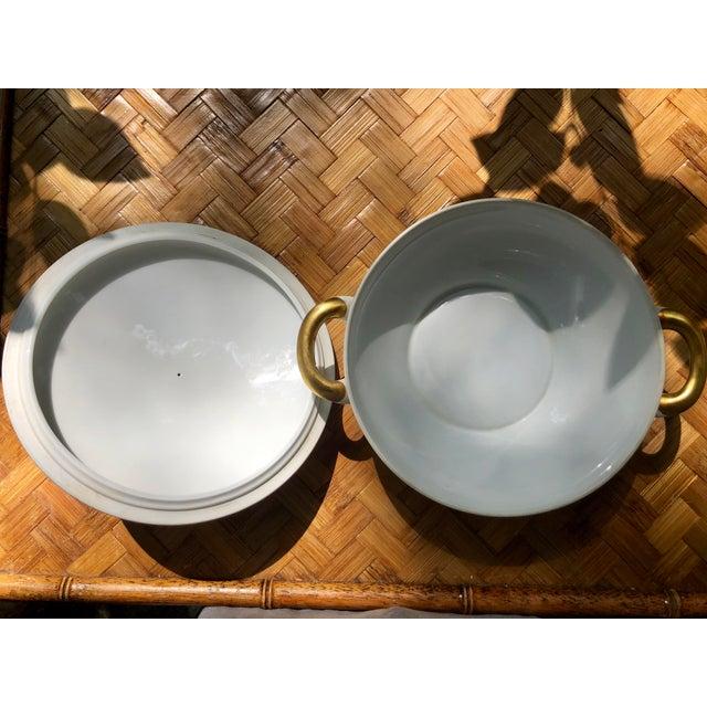 """Ceramic Haviland """"Rose Chintz"""" Gilt Floral Porcelain Vegetable Tureen For Sale - Image 7 of 12"""
