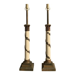 Neoclassical Marble Lamps - A Pair