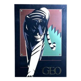 Vintage Nicholas Gaetano Tiger Lithograph For Sale