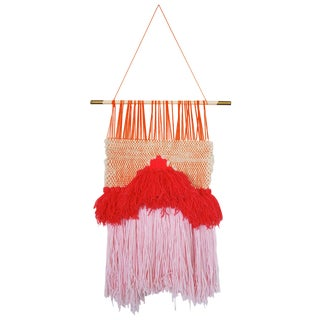 Pink Kate Roebuck Woven Wall Hanging