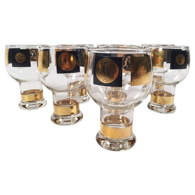 Mid-Century Modern Fostoria Coin Glassware - Set of 8 For Sale - Image 3 of 8