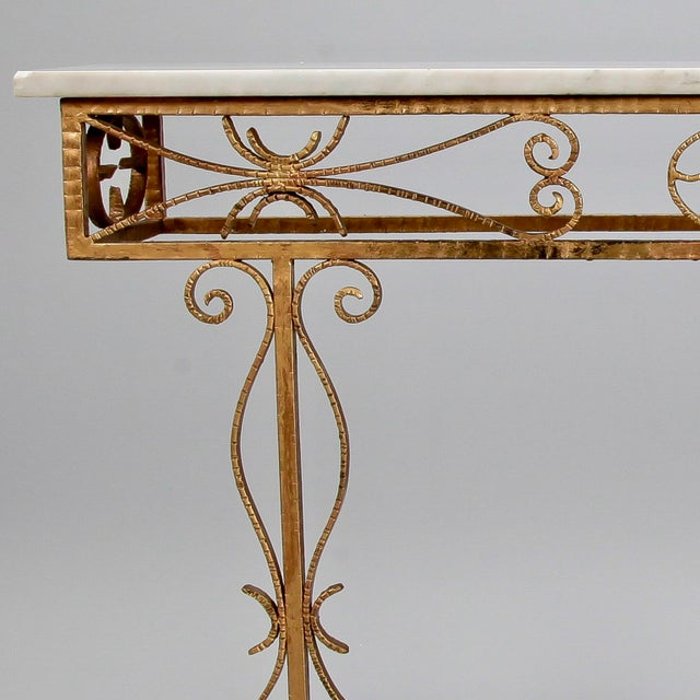 Spanish Wall Hung Console with Gilt Metal and Marble Top - Image 7 of 8